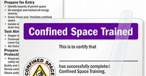 Confined Space Trained Card - Certification Wallet Card  Sku
