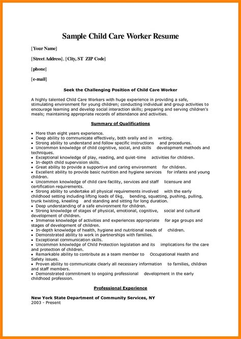 Updated Resume Sle by 10 Child Care Provider Resume Writing A Memo
