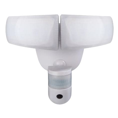 defiant led security light defiant 180 white led wi fi video motion security light