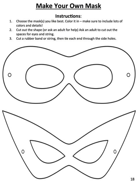 design your own mask this template to design your own mask