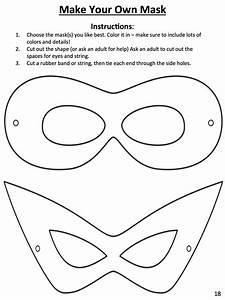 download this template to design your own superhero mask With superhero mask template for kids