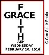 2014 lent cross icon with ash wednesday date clip art