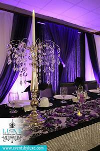 Purple And Black Wedding Backdrop Purple Black And White