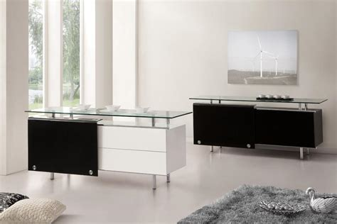 oxygen ultra chic contemporary glass sideboard white
