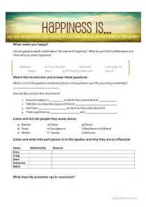 Gratitude Worksheets The Science Of Happiness Worksheet Free Esl Printable Worksheets Made By Teachers