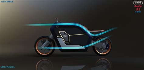 Futuristic R1 E-tron Concept Motorcycle Proposal For Audi