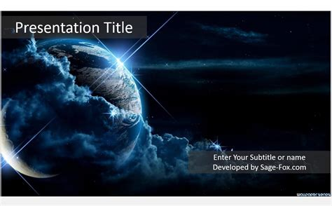 templates space powerpoint free abstract space powerpoint template 5167 sagefox