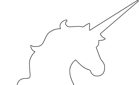 unicorn head outline simple unicorn drawing
