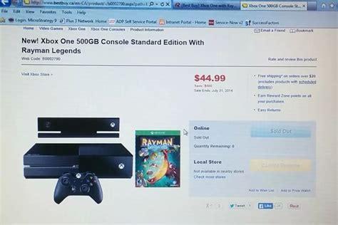 buy canada accidentally priced xbox