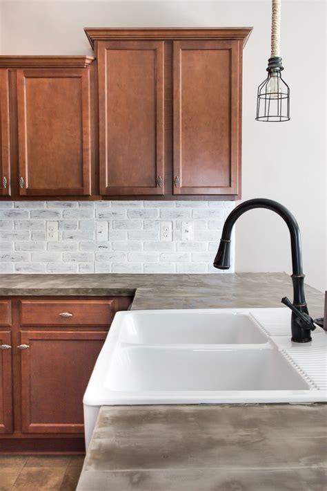 Wallpaper Kitchen Backsplash Ideas - remodelaholic diy whitewashed faux brick backsplash