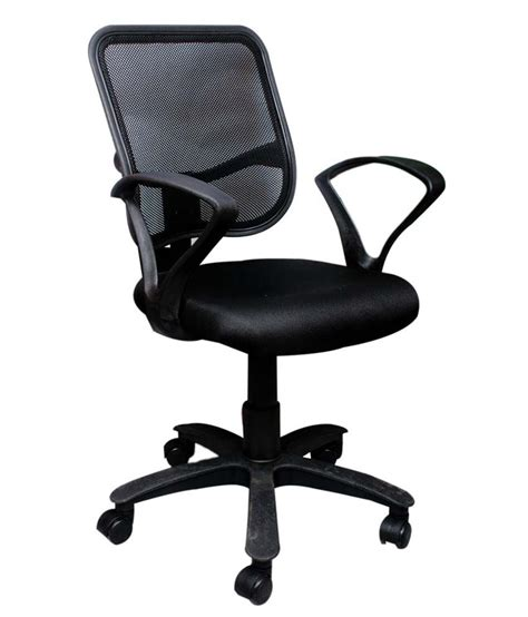 back chairs india square net back office chair in black buy at best
