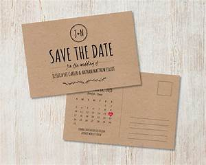 Rustic Wedding Save the Date, Kraft Save the Date, Rustic ...