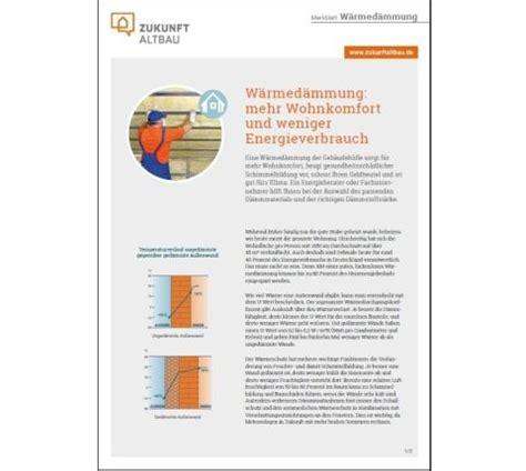 Merkblatt Waermedaemmung by Ausbau Und Fassade Neues Merkblatt Zur W 228 Rmed 228 Mmung