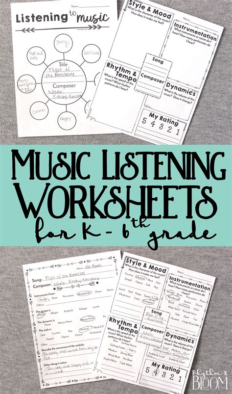 generic musing listening  grades kindergarten