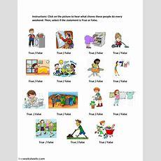 Simple Present Tense Listening Exercise  Interactive Worksheet