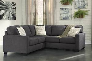 Alenya charcoal 2 piece sectional sofa for 62500 for Alenya 2 piece sofa sectional in charcoal