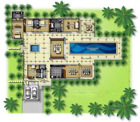 house floors  courtyard pool  shaped plans  middle house floors  courtyard pool
