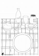 Breakfast Coloring Printables Colouring Cz Printable sketch template
