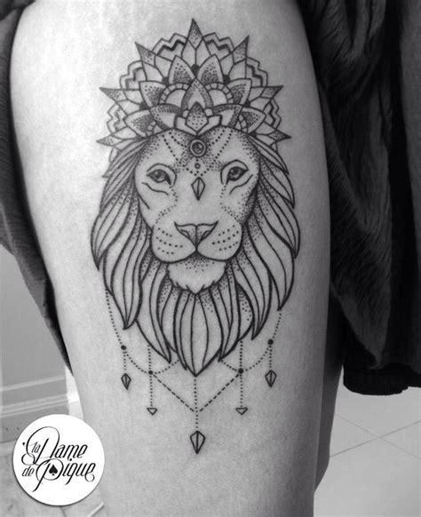 tatouage lion geometrique cochese tattoo