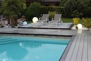 Eclairage Piscine Bois : r novation d 39 une plage de piscine en bois composite gris ~ Edinachiropracticcenter.com Idées de Décoration