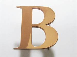 letter b copper metal letters With copper metal letters