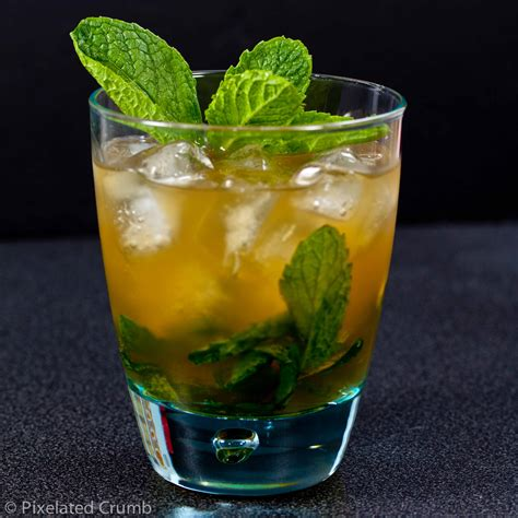 mint julep bourbon pixelated crumb