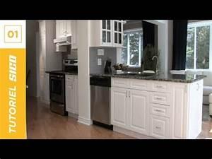 comment repeindre les armoires de cuisine avec sico youtube With peindre une armoire en pin