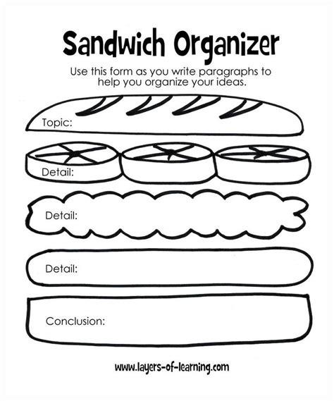 Sandwich Template For Writing Sandwich Template For Writing 56 Inspirational Template