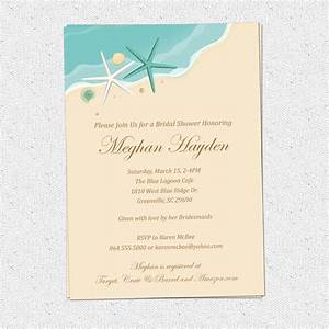 beach invitation printable bridal shower birthday sand sea With free printable beach themed wedding invitations