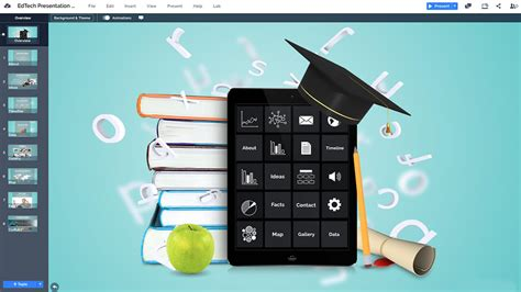 education technology  template prezibase