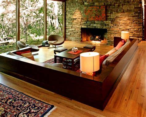 living room interior design   natural stone
