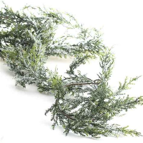 snowy artificial cedar garland holiday florals