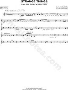 strange  clarinet  toy story sheet