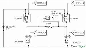 Single Phase Half Bridge And Full Bridge Inverter Circuit