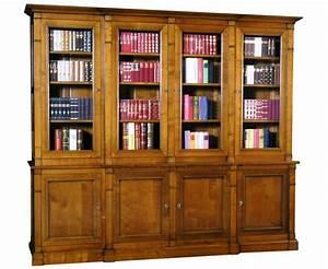 Bibliothèque Avec Porte : biblioth que 2 corps 4 portes merisier massif collection directoire ~ Teatrodelosmanantiales.com Idées de Décoration