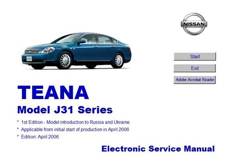 service manuals schematics 2003 nissan sentra electronic toll collection nissan teana model j31 electronic repair manual download