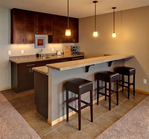Building A Bar In The Basement by Bars Options And Features Design Build Planners