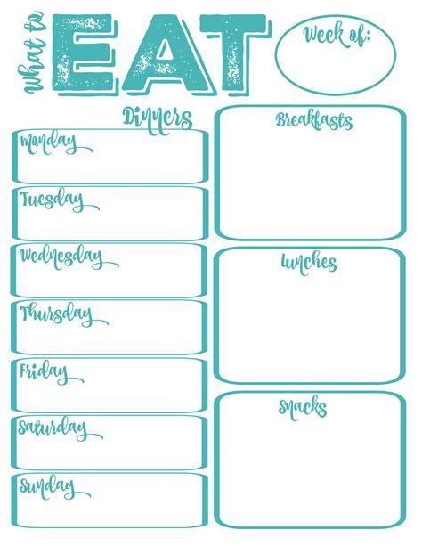 pantry makeover  printable weekly meal planner