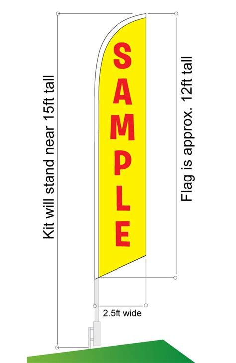 feather flag nation feather banner swooper flag kit pole spike ebay