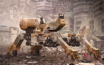 Futuristic Hong Kong Artwork Machine Dystopian Ruin