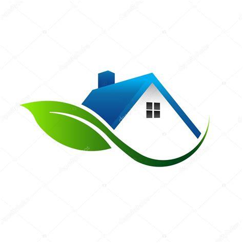 logo casa logotipo de casa de folha vetor de stock 169 deskcube