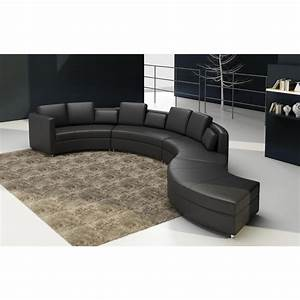 Canape cuir rond malaga for Canape cuir rond