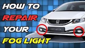 How To Repair Broken Fog Light Glass Lens Replacement Diy
