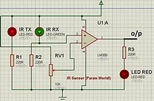 Param World   Ir Sensor Circuit Using Lm358
