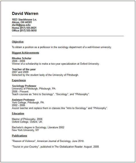 Academic Cv To Resume by Academic Cv Template Business Templated Business Templated