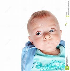 Serious Cute Baby Boy Thinking - Five Months Old Stock ...