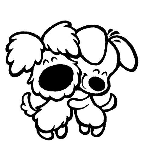 disegni da colorare cuccioli di sta disegno di cuccioli di affettuosi da colorare