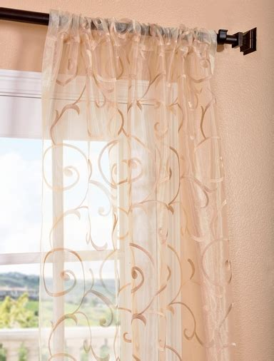gold embroidered sheer curtains drapes