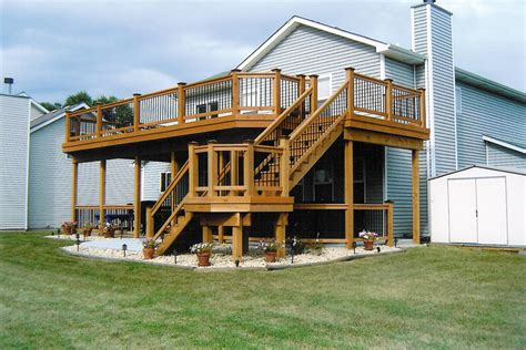 Two Story Deck Ideas by Two Story Deck Designs