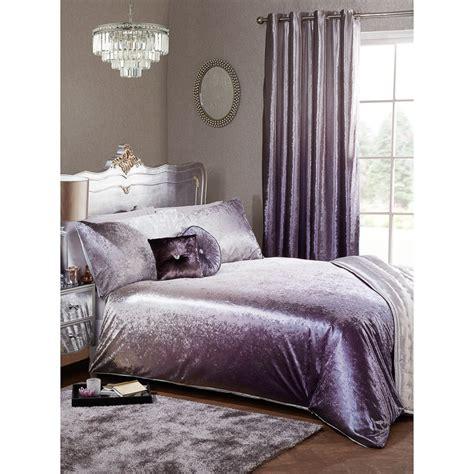 King Bedroom Duvet Sets by Ombre Velvet Duvet Set King Bedding B M With Crushed
